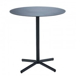 "Table café ""Flor"", métal noir HOUE Ø60cm"