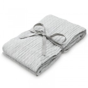 CamCam gift box : swaddle & rattle, grey waves