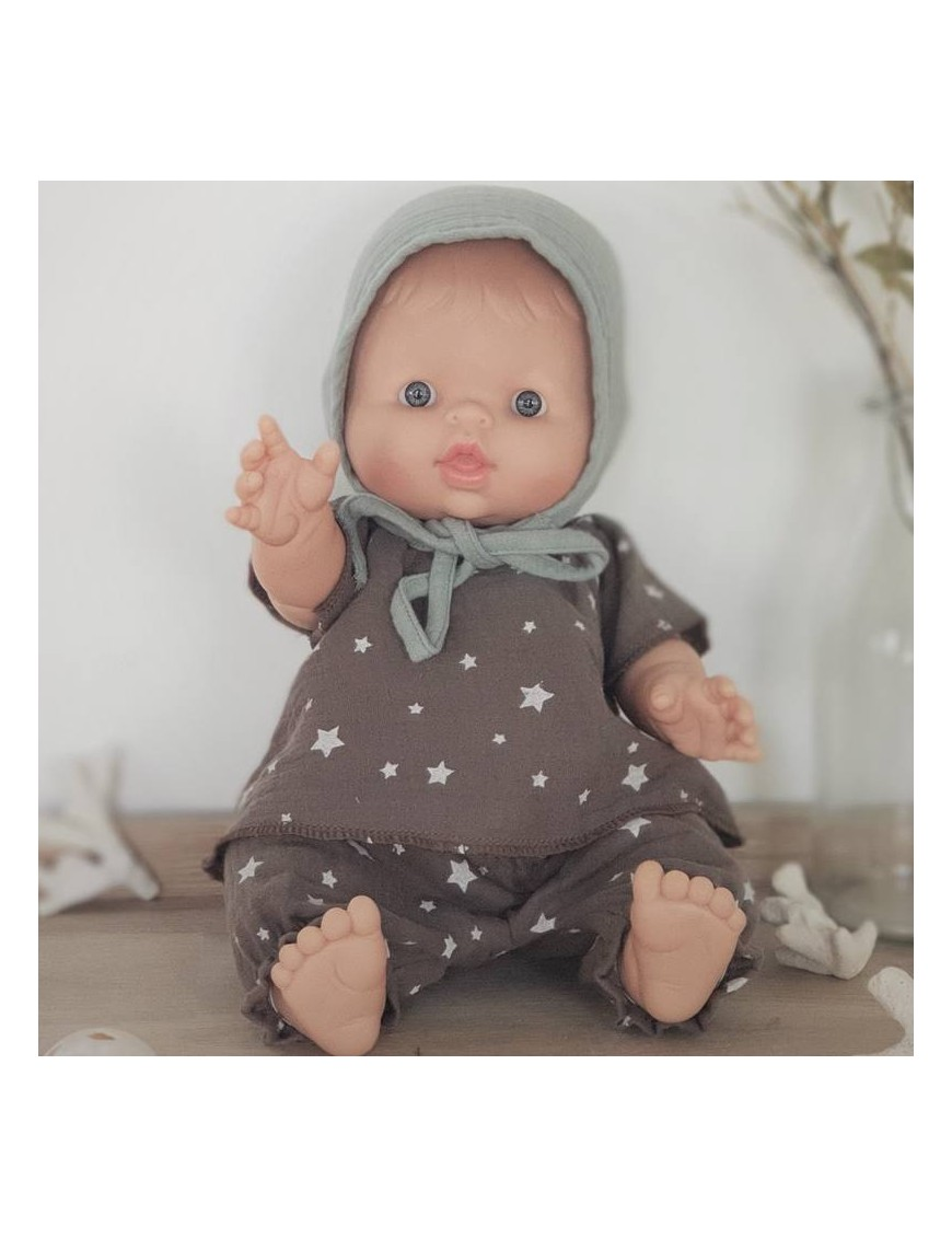 Baby boy doll : star top & pant & baby hat
