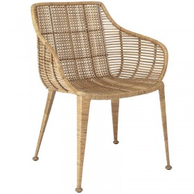 chaise en rotin Bloomingville