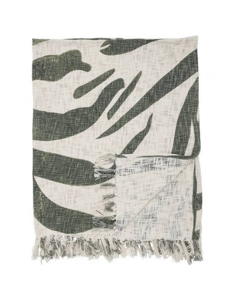 Bloomingville palm leaf cotton throw