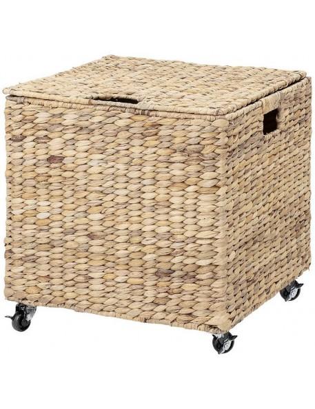 Bloomingville basket with wheels, water hyacinth