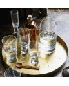 HK Living - 70's flute glass (x4) - bubble clear glass