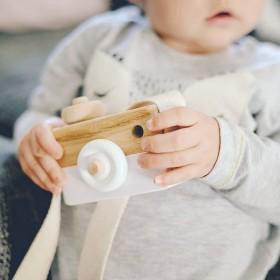 Camera, wooden toy - grey