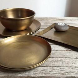 Coupelle en laiton medium (Ø12,5cm) - FOG LINEN WORK