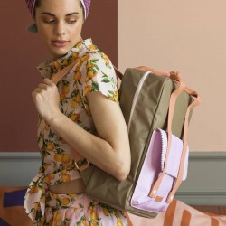 "Sticky Lemon - backpack large ""Deluxe"" : olive, lilac, orange"