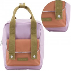 "Sticky Lemon - backpack small ""Deluxe"" : lilac/orange/olive"