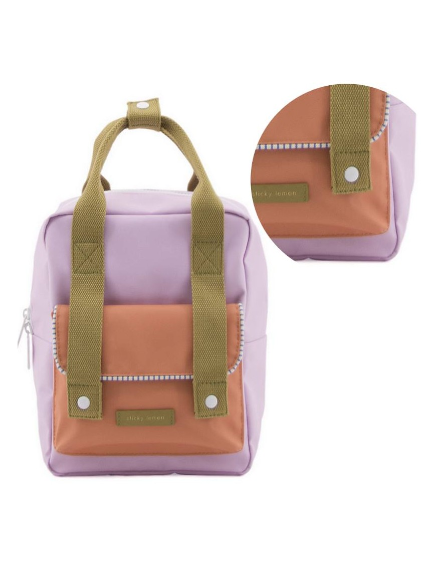 """Sticky Lemon - backpack small """"Deluxe"""" : lilac/orange/olive"""