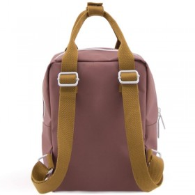 "Sticky Lemon - backpack small ""Deluxe"" : brick, blue, brown"