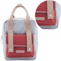 "Sticky Lemon - backpack small ""Deluxe"" : blue/red/pink"