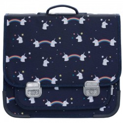 Jeune Premier - cartable it bag midi: Rainbow / Unicorn