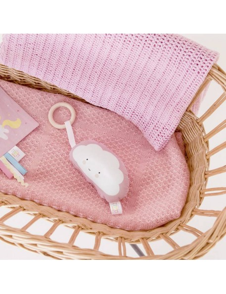 A Little Lovely Company rattle : pink cloud
