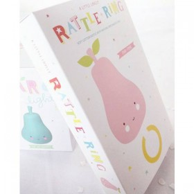 A Little Lovely Company rattle : pink pear