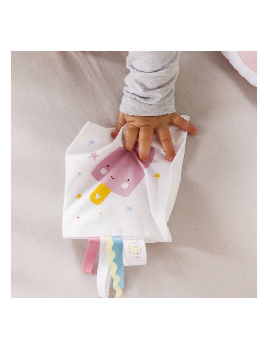 "Doudou plat étiquettes ""pink ice"" | A Little Lovely Company"