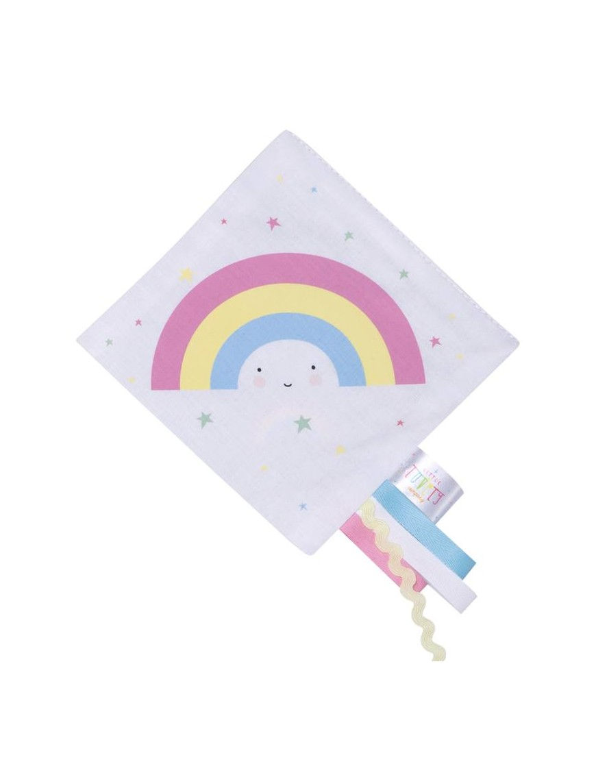 A Little Lovely Company crinkle baby toy : rainbow