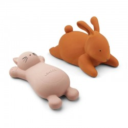 "Liewood - bath toy ""Vicky"" : cat rose (x2)"