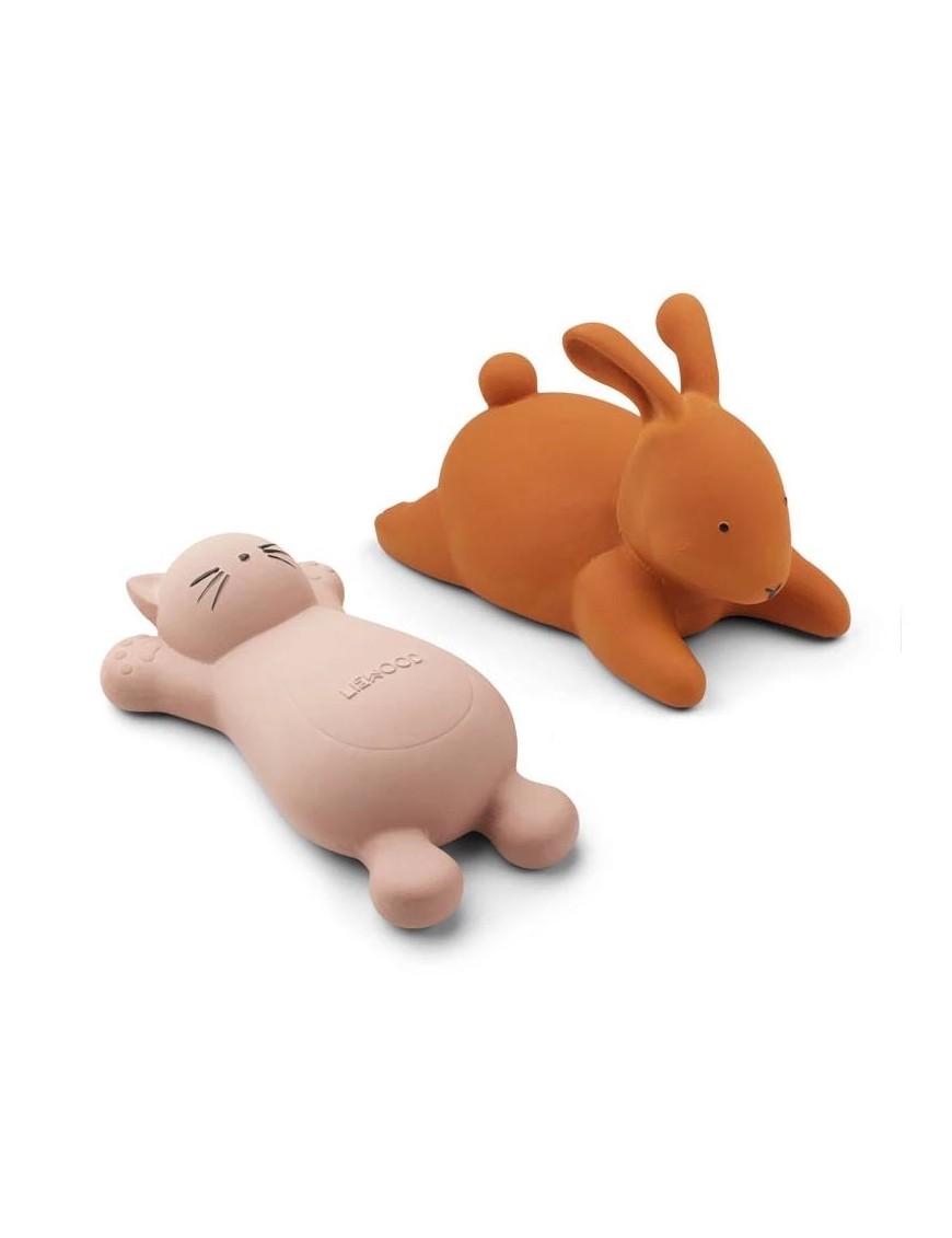 "Liewood - jouet de bain bio ""Vicky"" : chat rose"