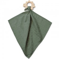 "Liewood - teether cuddle cloth ""Dines"" : dino faune green"