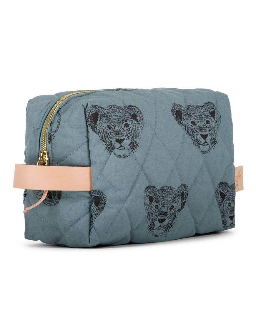 """MOUMOUT - large duffle pouch : blue / lion """"Simba"""""""