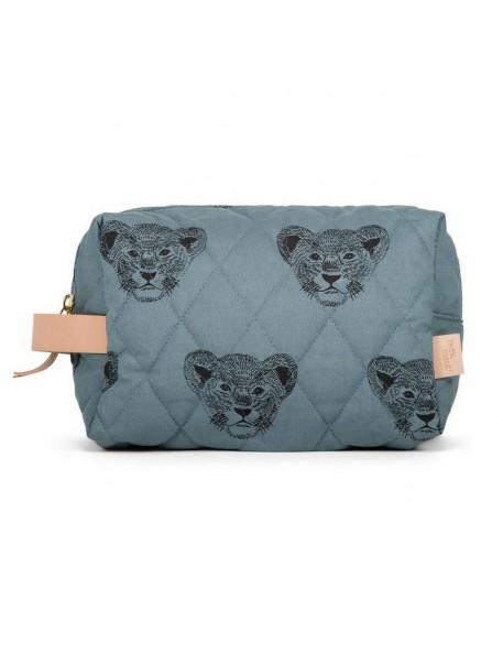 """MOUMOUT - duffle pouch : blue / lion """"Simba"""""""
