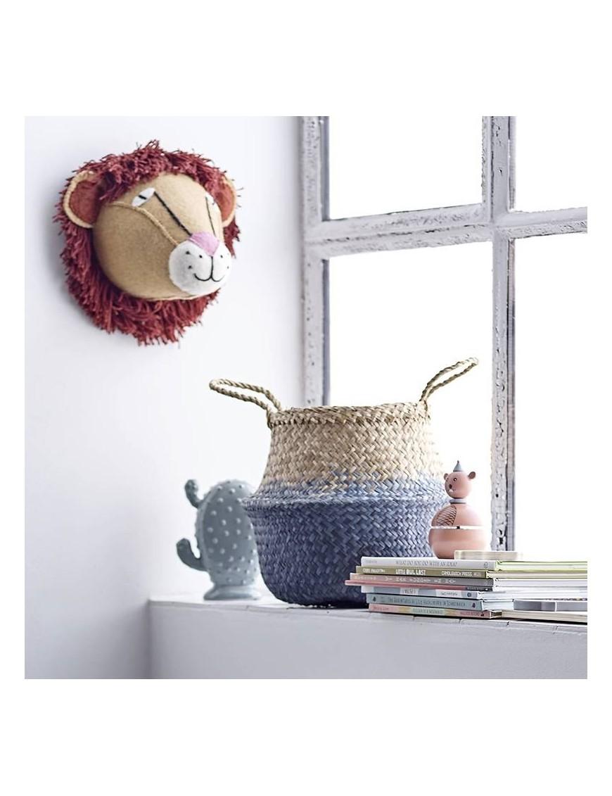 Bloomingville wall decor : lion head, wool