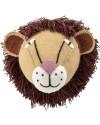 trophée lion peluche