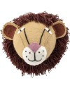 Bloomingville wall decor : lion head, wool