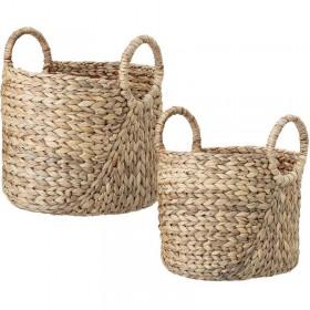 Bloomingville water hyacinth basket, nature set of 2