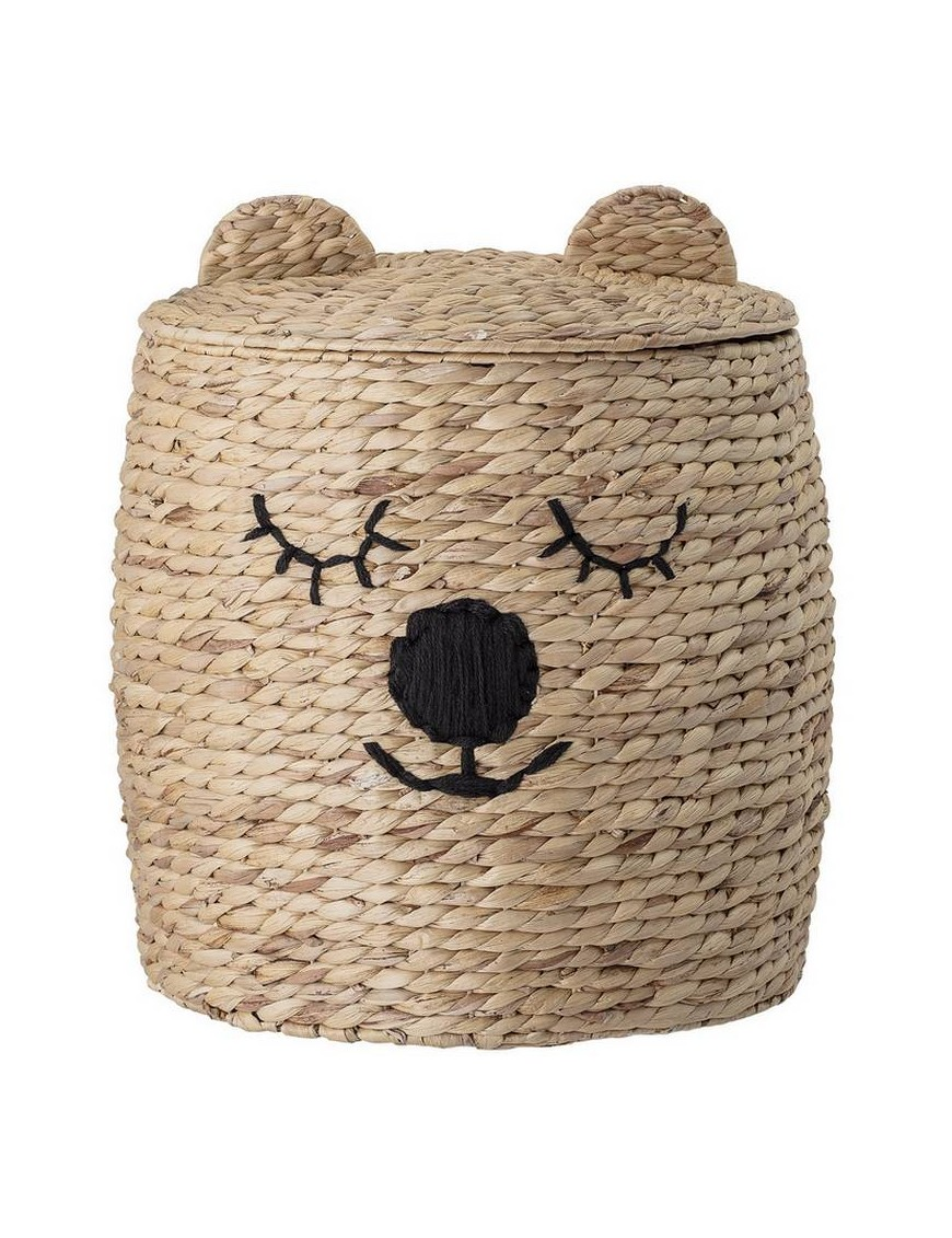 Bloomingville bear nature basket with lid