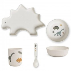 Liewood - bamboo tableware box set : dino mix