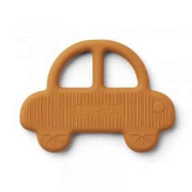Anneau de dentition silicone Liewood : voiture, moutarde