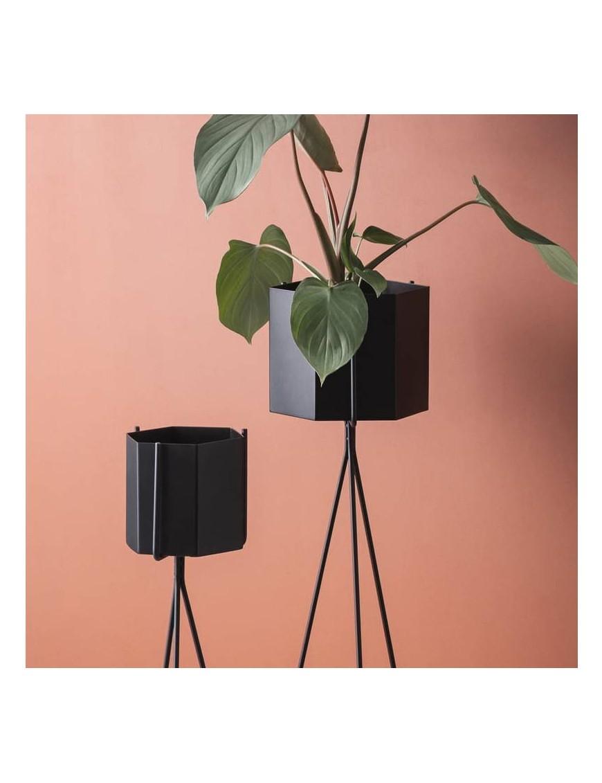 Ferm living hexagonal pot - black, large