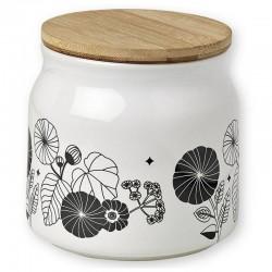 Mr & Mrs Clynk pot en porcelaine à fleurs noires