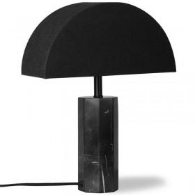 """HK Living black marble table lamp """"semi-circle"""""""