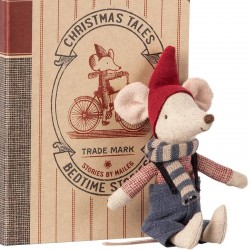 Maileg Christmas mouse in book, big brother