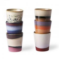 Mug céramique 70' (set x6) - HK living