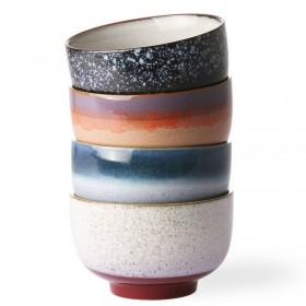 HK Living ceramic 70's bowls (set of 4)