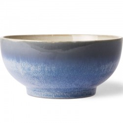 HK Living ceramic 70's salad bowl, ocean