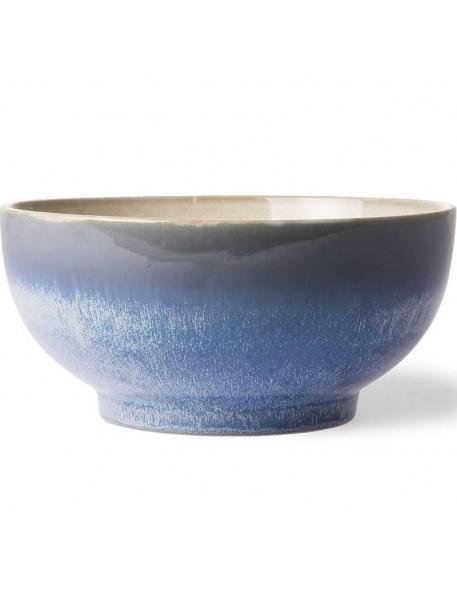 HK Living ceramic 70's salad bowl, ocean