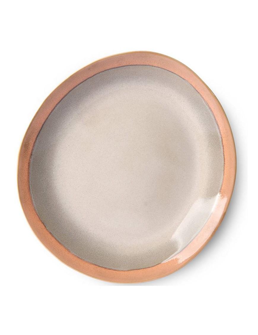 """Assiette """"earth"""" céramique 70' - HK living"""