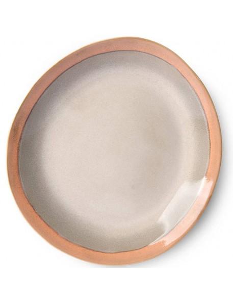 HK Living ceramic 70's dinner plate, earth