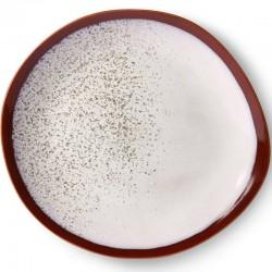 HK Living ceramic 70's dinner plate, frost