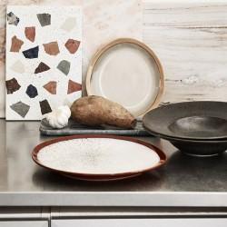 """Assiettes """"frost"""" céramique 70' (x6) - HK living"""