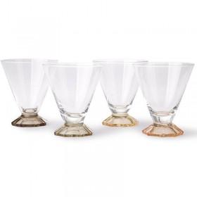HK Living - coloured cocktail glass (set x 4)