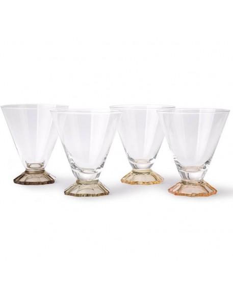Set de 4 verres cocktail vintage HK Living