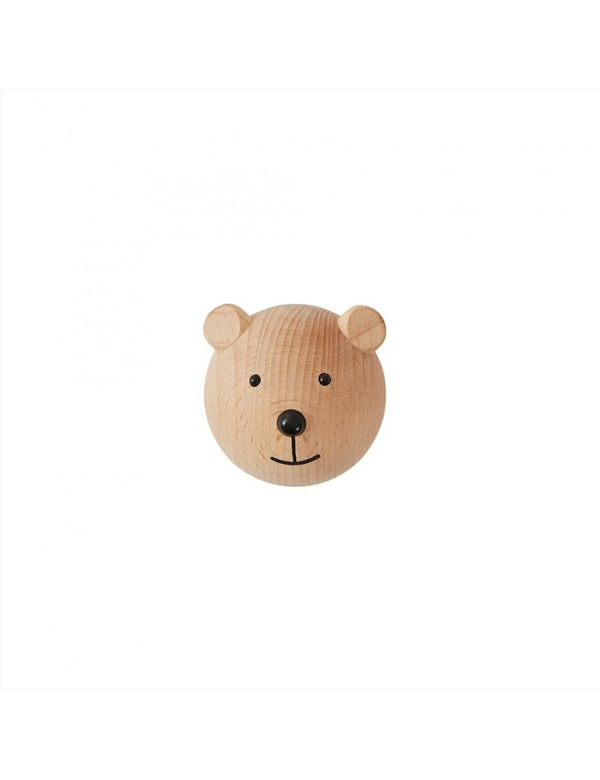 Patère ours en bois OYOY mini