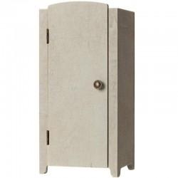 Maileg mini armoire vintage, gris/menthe