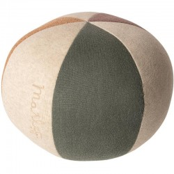 Maileg ball : dusty green/coral/glitter
