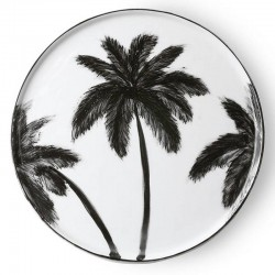 HK living bold palms dinner plate
