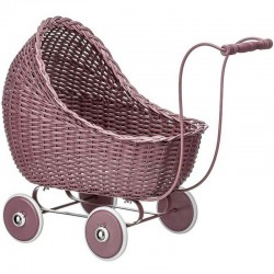 vintage baby doll stroller : dark rose - Smallstuff